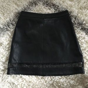 Forever21 faux leather skirt
